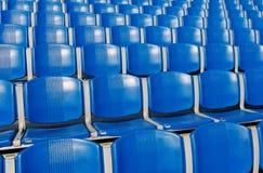 Stadium Seats. Blue Empty Stadium Seats outdoors Stock Photography