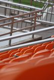Stadium seats. Royalty Free Stock Photo