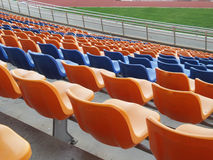 Stadium seats. Stock Photo
