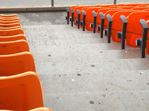 Stadium seats. Royalty Free Stock Photos