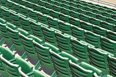 Stadium seats. Empty stadium seats in a baseball park stock image