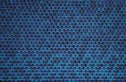 Stadium seats. Blue stadium seats on the olympic stadium Royalty Free Stock Photos