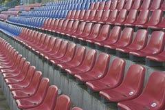 Stadium seats. Empty stadium seats Stock Photo