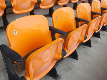 Stadium seats. Royalty Free Stock Photography