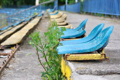Abandoned stadium  Royalty Free Stock Images