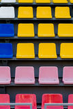 Stadium seats colored closeup Royalty Free Stock Images