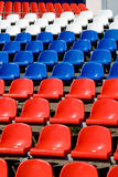 Stadium seats colored closeup Stock Photos