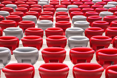 Stadium seats Stock Photos