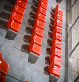 Stadium seats. Empty stand. Team sport supporter Stock Photos