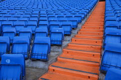 Stadium Seats in Madrid - Spain royalty free stock image