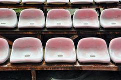 Stadium seats Stock Images