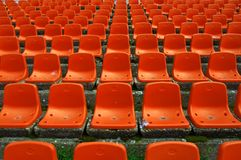 Stadium seats pattern Stock Photos