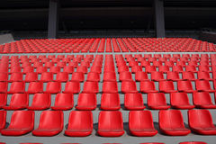 Stadium seats pattern Royalty Free Stock Photos