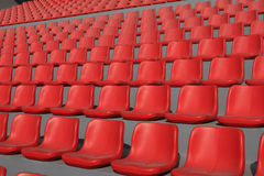 Stadium seats pattern Royalty Free Stock Images