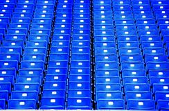 Stadium Seats. Photo of colorful empty stadium seats at the old Three Rivers Stadium in Pittsburgh Pennsylvania stock images