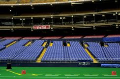 Stadium Seats. Photo of colorful empty stadium seats at the old Three Rivers Stadium in Pittsburgh Pennsylvania royalty free stock images
