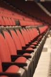 Stadium seats portrait. Photo of empty seats in Hockey stadium with narrow DOF royalty free stock photo
