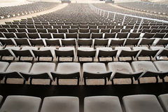Stadium seats in a rear view Royalty Free Stock Photos