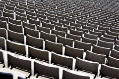 Stadium seats in a row royalty free stock image