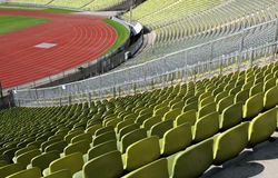 Stadium seats in a row Royalty Free Stock Photography
