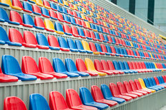 Stadium seats rows Stock Photo