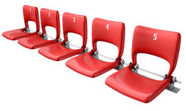 Stadium Seats Section Royalty Free Stock Images