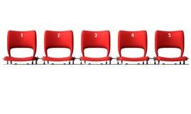Stadium Seats Section Stock Photo
