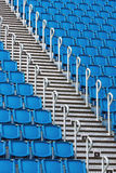 Stadium seats and staircase Stock Photography