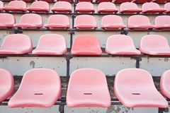 Stadium seats on the stand Royalty Free Stock Image