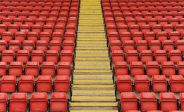Stadium seats with steps Royalty Free Stock Images