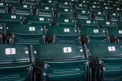 Stadium Seats Three Quarter View Stock Photo