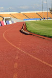 Stadium seats on track for sports. Stock Images