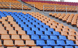 Stadium seats for visitors some sport or football.  royalty free stock photography