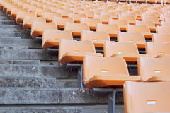 Stadium seats for visitors some sport or football Royalty Free Stock Image
