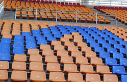 Stadium seats for visitors some sport or football.  royalty free stock photo
