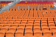 Stadium seats for visitors some sport or football.  stock photography