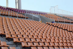 Stadium seats for visitors some sport or football.  stock images