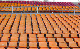 Stadium seats for watch some sport or football.  royalty free stock photography