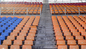 Stadium seats for watch some sport or football.  royalty free stock images