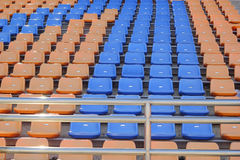 Stadium seats for watch some sport or football.  stock photography