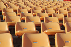 Stadium seats for watch some sport or football Stock Photos