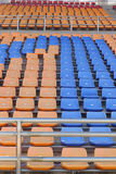 Stadium seats for watch some sport or football Royalty Free Stock Images