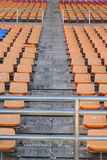 Stadium seats for watch some sport or football.  stock photo