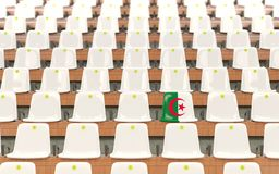 Stadium siedzenie z flaga Algeria royalty ilustracja