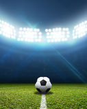 Stadium And Soccer Ball Royalty Free Stock Photo