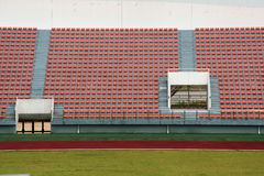 Stadium and soccer field Stock Photos