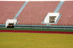 Stadium and soccer field Stock Image