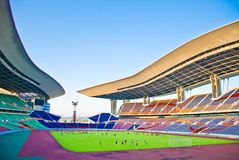 Stadium for Soccer. The stadium for Soccer in Guangzhou,which is named the Olympic sports center royalty free stock photo