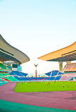 Stadium for Soccer. The stadium for Soccer in Guangzhou, which is named the Olympic sports center stock images