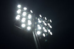 Soccer stadium lights Royalty Free Stock Photo